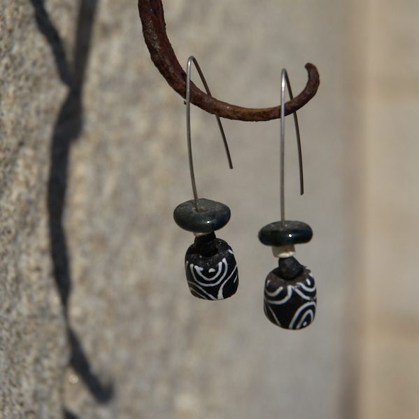 Pendientes étnicos de vidrio - Ndogo